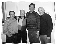 GRANDFATHER KNOWS BEST: Third-generation owners of Keystone Uniform Cap and M.H. Grossman Inc.