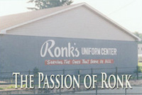 Ronks Uniform Center built on a wing and with care